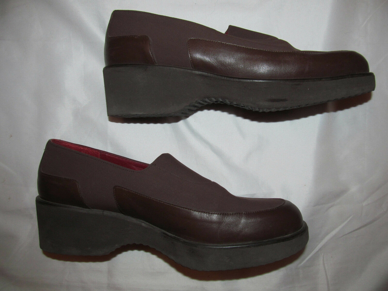 DONALD J PLINER CHELE microfiber nylon and and and  leather wedge loafers shoes 7.5 M 2ab77e