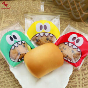 100pcs Self Adhesive Bags DIY Cookie Candy Package Cellophane Gift Bag Q