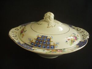 A-J-WILKINSON-ROYAL-STAFFORDSHIRE-POTTERY-VEGETABLE-TUREEN-c1950
