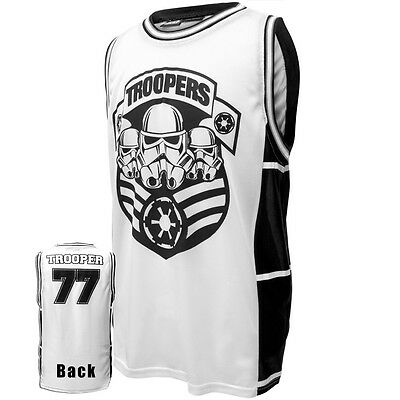 AUTHENTIC STAR WARS TROOP ARMY STORMTROOPER JERSEY TANK TOP T SHIRT S-2XL