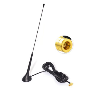 Auto-Audio-DAB-Digital-Radio-Stereo-Empfaenger-SMB-Stecker-Magnetfuss-Antenne