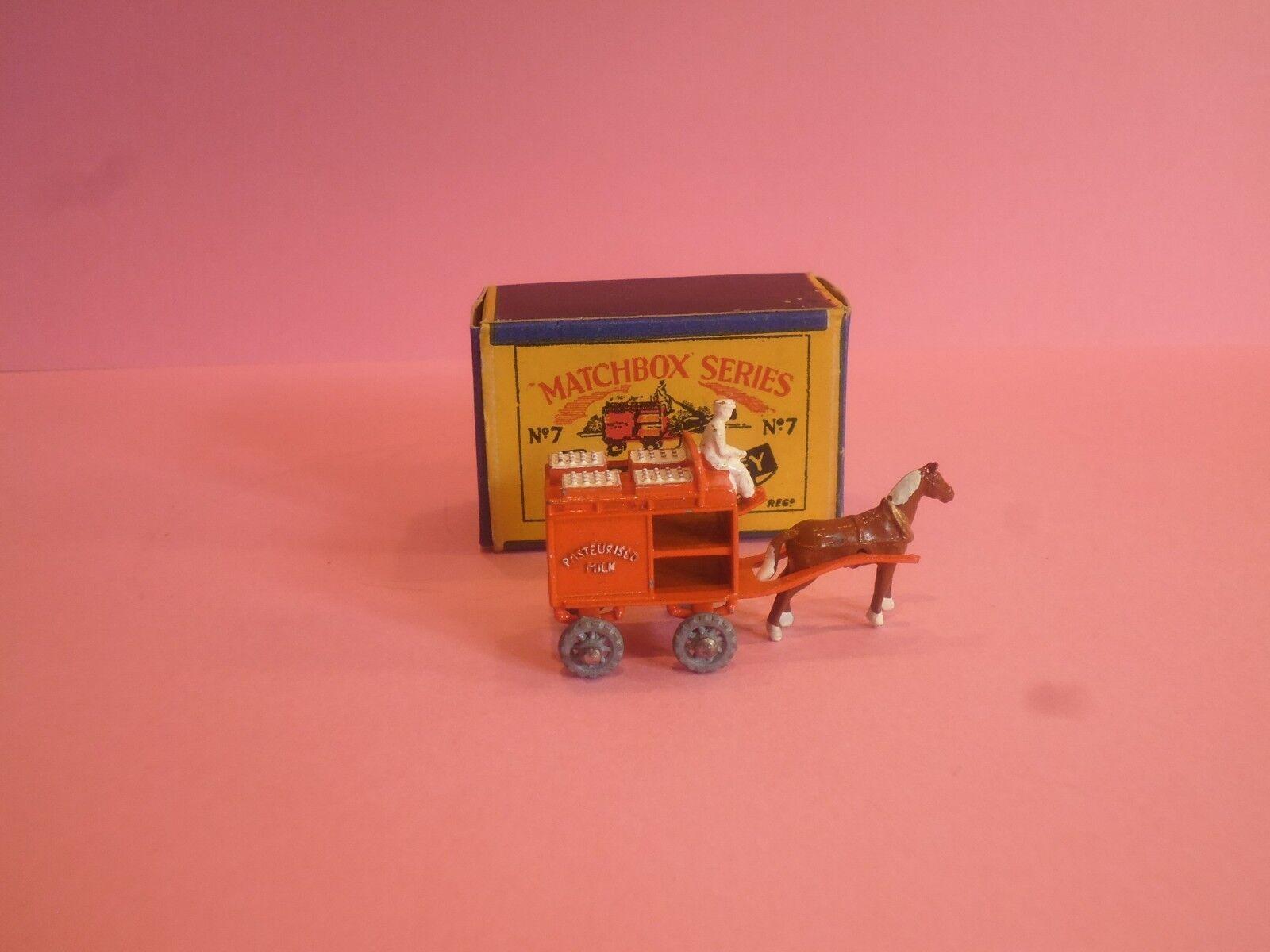 MATCHBOX Lesney Moko nº 7 HORSE DRAWN latte galleggiante in Quasi Nuovo Con. - Boxed