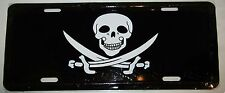 "Jolly Roger Captian Calico Jack Rackam Pirate 6""x12"" License Plate Sign"