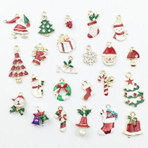 23Pcs-Metal-Alloy-Mixed-Christmas-Charms-Pendants-Party-Decor-Ornament-H-ti