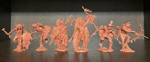 Publius Set of INDIANS Nº 2 brun-rouge en caoutchouc plastique 1:32