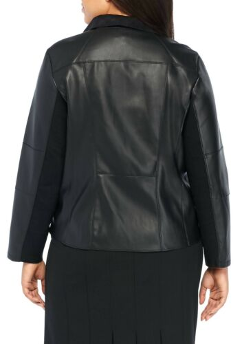 THE LIMITED® Plus Size 1X Black Faux Leather Jacket NWT $139