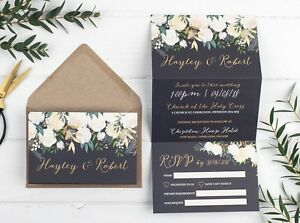 Wedding-Invitation-Gold-Luxe-Floral-Z-Fold