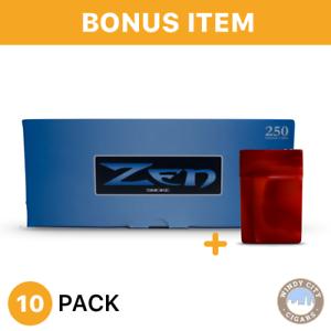 ZEN-RYO-Light-Blue-100s-White-Cigarette-Filtered-Tubes-10-Box-amp-bonus-case