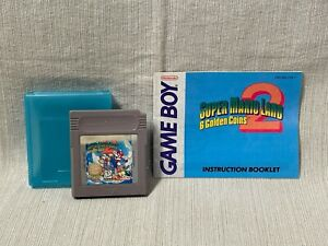 Super Mario Land 2 Nintendo Gameboy Game Cartridge Manual Authentic & Working