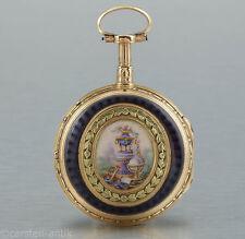 Mr. La Roche à Paris Empire 18k Gold-emaile 1780 Spindeluhr Repetition