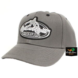 RIG-039-EM-RIGHT-WATERFOWL-SOLID-GRAY-BALL-CAP-HAT-WITH-LOGO