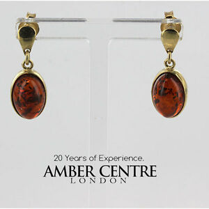 Image Is Loading Exquisite Baltic Amber In Italian Designed 9ct Gold