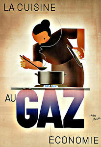 Art Ad La Cuisine au Gaz Cooking with Gas   Deco Poster Print - <span itemprop=availableAtOrFrom>Lytham St. Annes, United Kingdom</span> - Buyers may return their poster if not fully satisfied within 14 working days after the day that they receive the item.. Most purchases from business sellers are protected by the  - Lytham St. Annes, United Kingdom