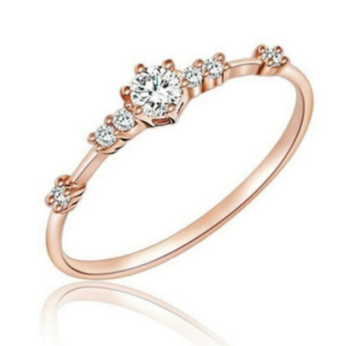 Womens Chic Exquisite Small Fresh Engagement Wedding Ring Size 4,5,6,7,8,9,10,11