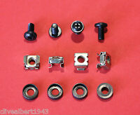 BLACK Rack Mount/Cage Nuts M6 x 1 Pack of (4 nuts,4 screws & 4 cup washers)