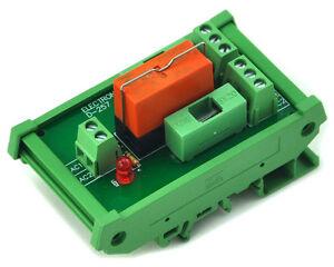 DOUBLE POLE 8A DIN RAIL MOUNT RELAY MODULE 12VDC /& LED