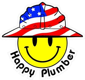 3-Happy-Plumber-Smiley-USA-Hardhat-Oilfield-Helmet-Toolbox-Sticker-H882