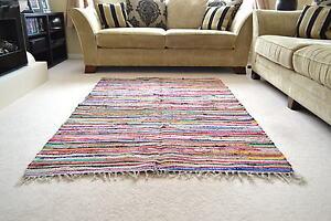 Tappeti In Tessuto Riciclato : Chindi tappeto di stracci shabby chic telaio manuale riciclato