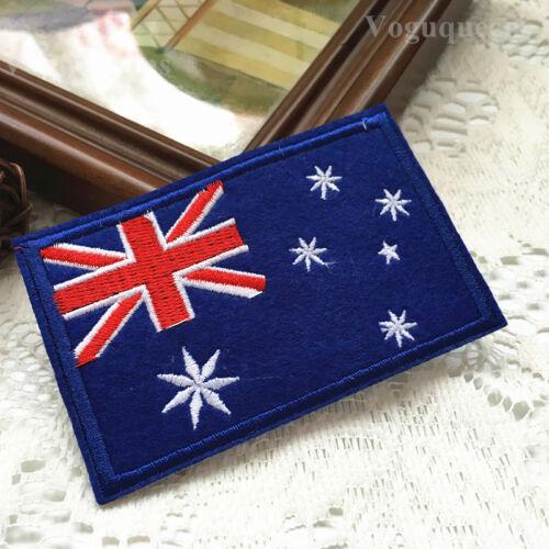Premium Quality Australia Flag Embroidered Patch Applique Badge Iron Sew On
