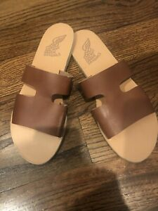 Ancient-Greek-Sandals-Womens-Apteros-Dk-Brown-Sandals-EUR-42-Fits-like-US-Sz-11