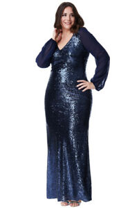 Goddiva-Sequin-Long-Chiffon-Sleeve-Maxi-Prom-Evening-Gown-Plus-Size-Party-Dress