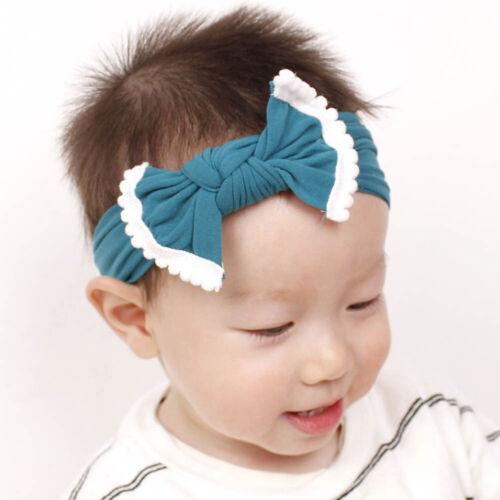 Baby Kid Big Bow Toddler Hairband Stretch Turban Knot Head Wrap Tassel Hairband