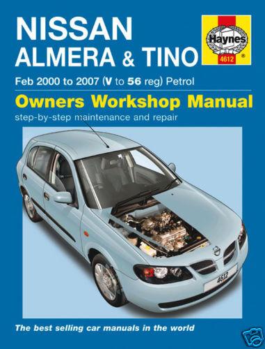 Haynes Nissan Almera /& Tino 2000-2007 Manual 4612 NEW
