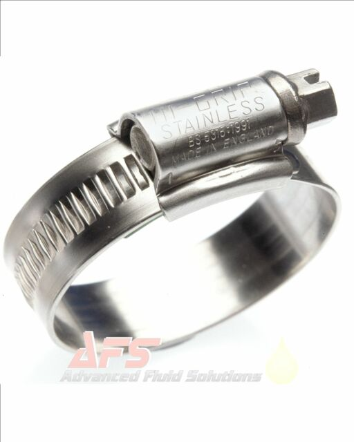 Box x 50 12-30mm STAINLESS STEEL JCS Hose Clip Clamp Worm Drive Hi-Grip