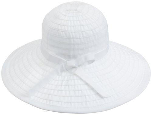 Ultraviolet facteur de protection 50 Protection femme plage été Large Bord Couleur Unie Floppy Chapeau Soleil Casquette