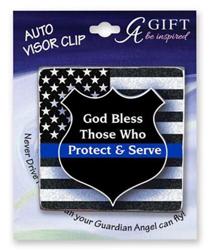 """2 1//2/"""" Inch Carded KVC637 Police Protect /& Serve Visor Clip"""