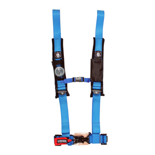 """1000 Pro Armor BLUE Seat Belt Harness 4 Point 2/"""" Padded Can-Am Commander 800"""