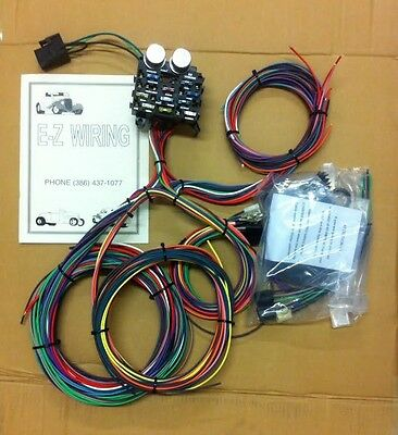 Mopar Ford Hotrods EZ Wiring 12 Circuit Color Wiring Harness Chevy