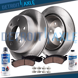 Front for 2009-2014 Chevy Express Savana 1500 Drilled Slotted Rotors