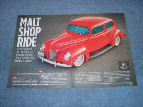 "1940 Ford Deluxe 2Door Sedan Vintage Style Hot Rod Article ""Malt Shop Ride"""