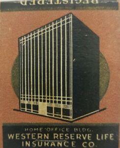 Western-Reserve-Life-Insurance-Harlingen-Texas-vintage-matchbook-full-unstruck