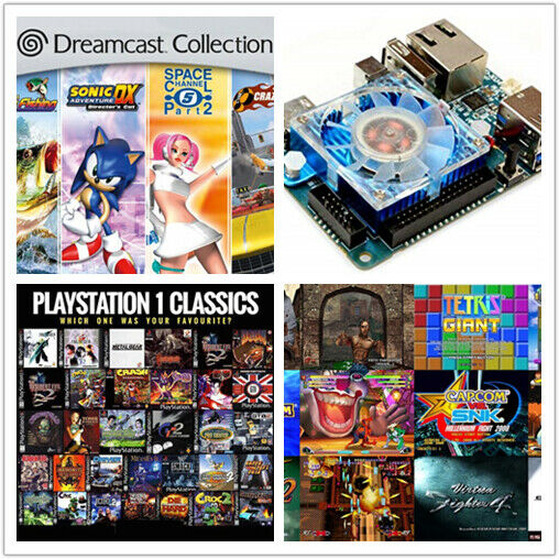 400GB ODROID XU4 Retropie retro game SD Card - Saturn Naomi Dreamcast  Atomiswav