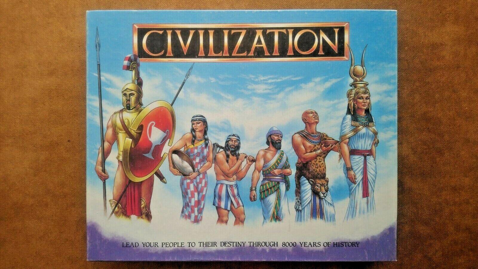 Civilization Juego De Mesa Por Gibsons 1988 (se ve UNPLAYED)