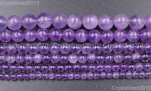 Natural-Lavender-Amethyst-Gemstone-Round-Loose-Beads-4mm-6mm-7mm-8mm-10mm-15-5-034