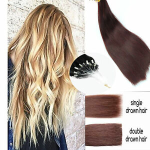 EXTRA-THICK-1G-Double-Drawn-16-034-24-034-Micro-Ring-Easy-Loop-Human-Hair-Extensions