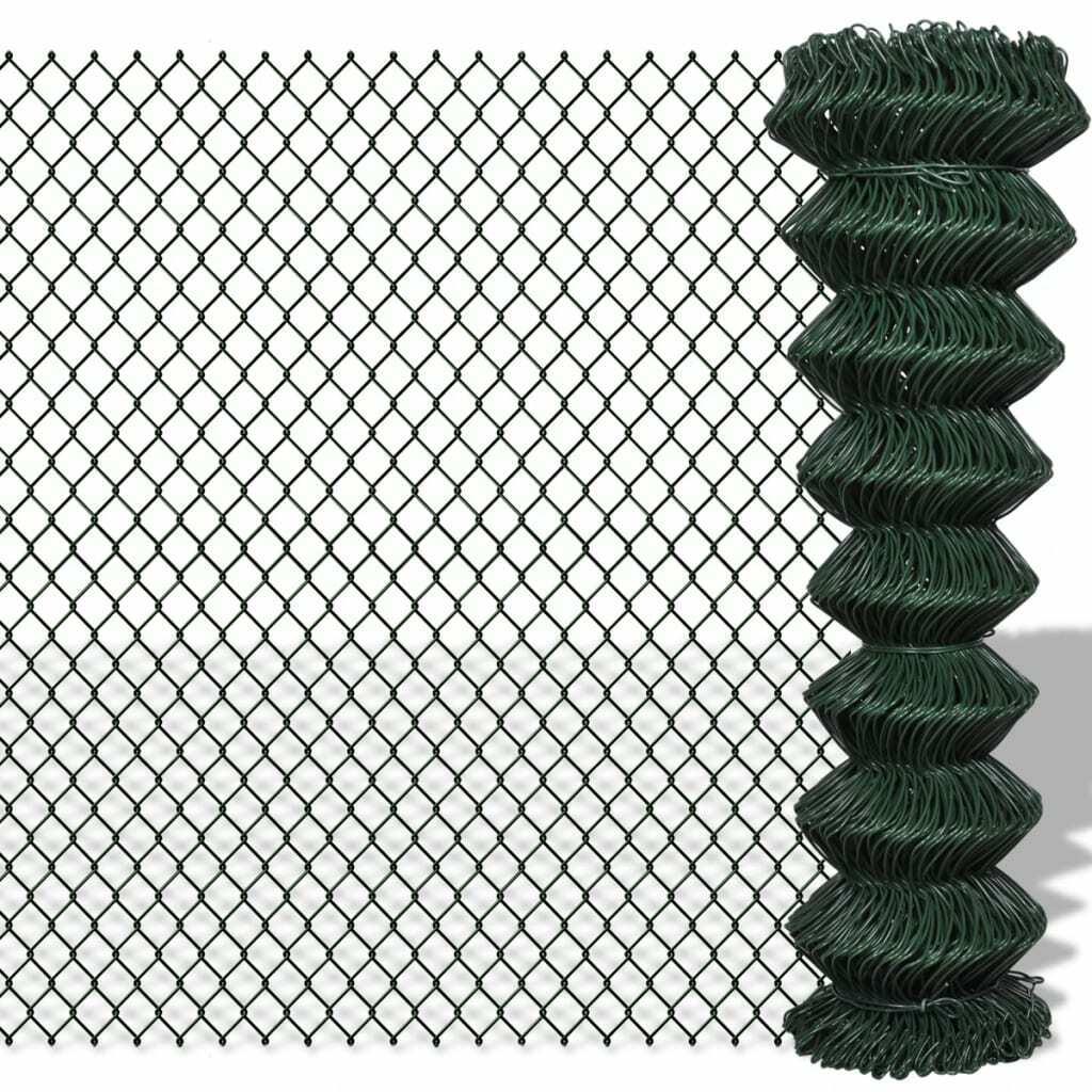 vidaXL Valla de malla 1,5 x 15 m verde Cerca Protección Privacidad...