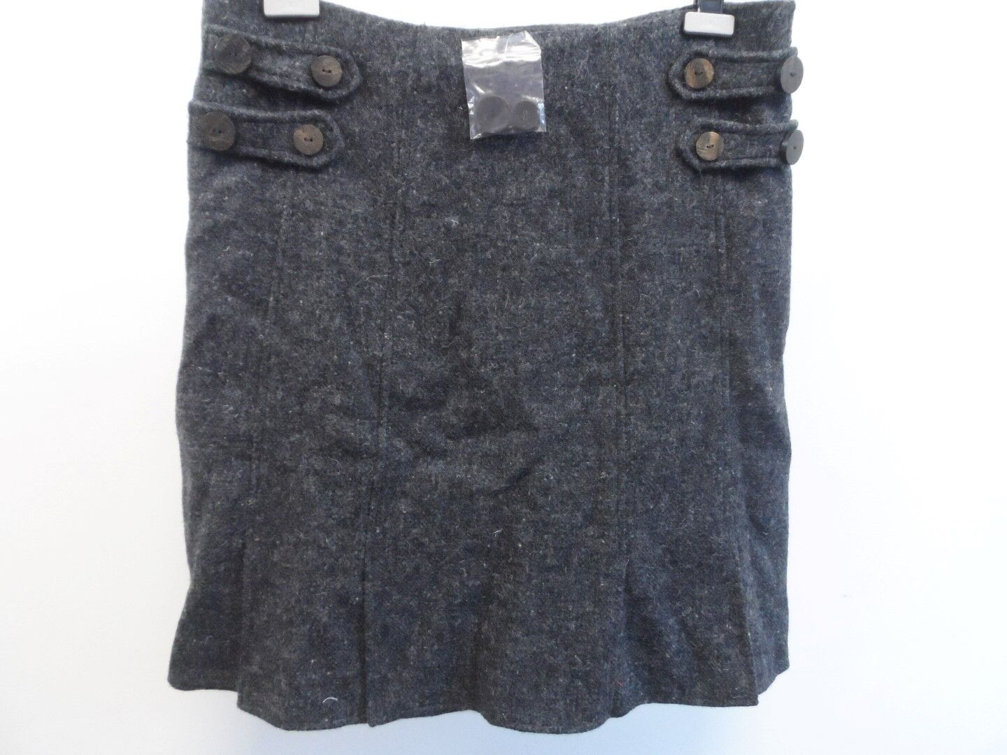 Pure Collection Tweed Skirt 100% Wool Grey Ladies Size Large Box42 66 B