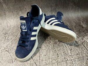 Detalles de Adidas Originals Campus Gamuza Azul Marino Oscuro Azul Blanco Zapatos Clásico De Hombre ver título original