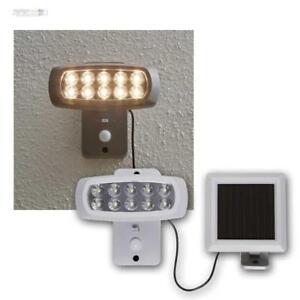 Powerspot Solarspot Bewegungsmelde<wbr/>r 10 LEDs warmweiß Außenleuchte Lampe Leuchte