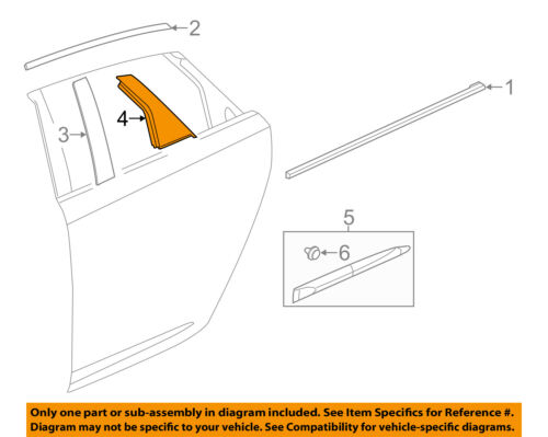 Chevrolet GM OEM 14-18 Impala Exterior-Rear-Applique Window Trim Right 84261836