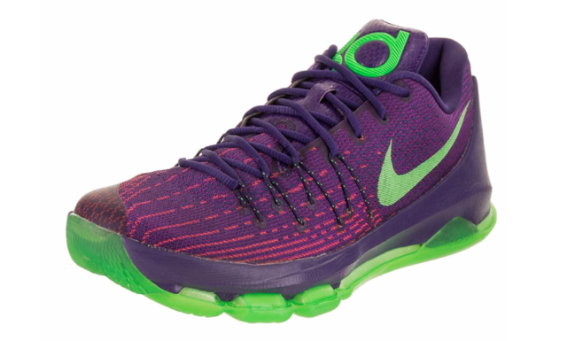 0f335e0349db Mens Nike KD 8 Shoe Size 10 Kevin Durant Basketball 749375 Purple Green