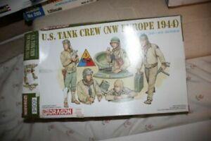 1//35 Soldiers Figures model Kit TANK CREW Dragon U.S NW EUROPE 1944