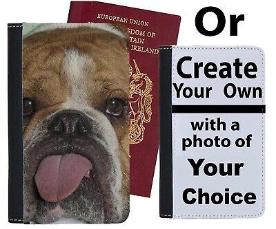Bulldog Custodia Per Passaporto Cane Cani Carino Cucciolo Cuccioli Bulldogs British Caso Si262-mostra Il Titolo Originale