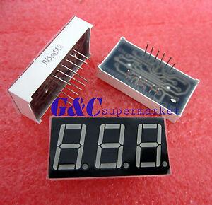 5PCS 0.56 inch 3 digit Red Led display 7 segment Common cathode NEW