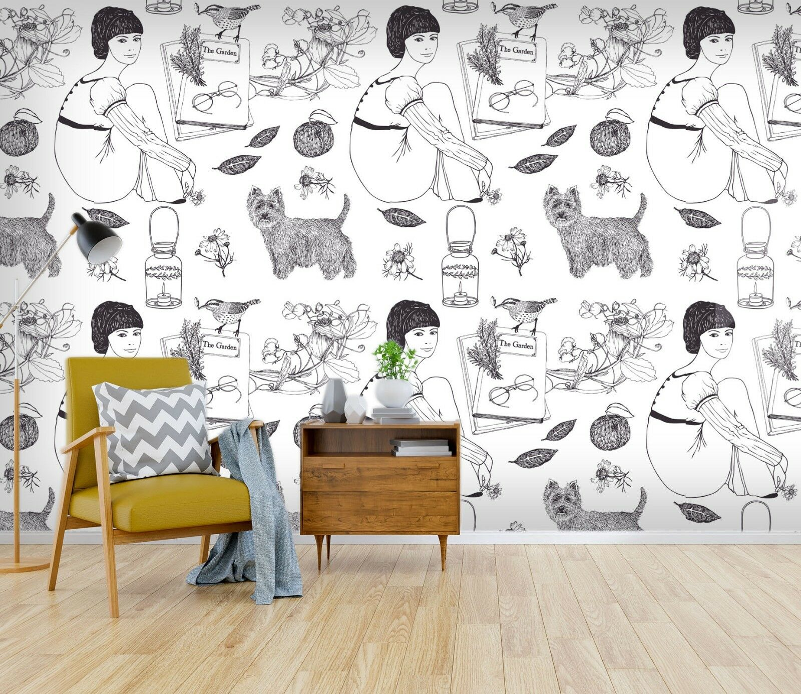 3D Girl Cat Animal 850 Wallpaper Mural Paper Wall Print Indoor Murals CA Summer