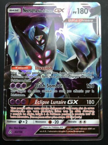 Carte Pokemon NECROZMA Ailes de l/'Aurore 63//156 GX Ultra Rare SL5 FR NEUF